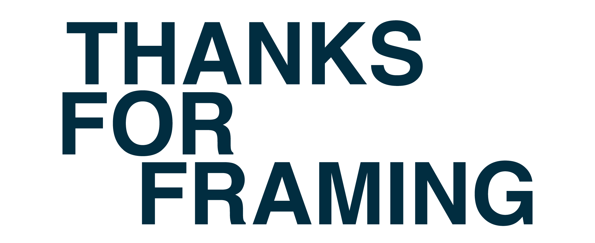Logo for thanksforframing